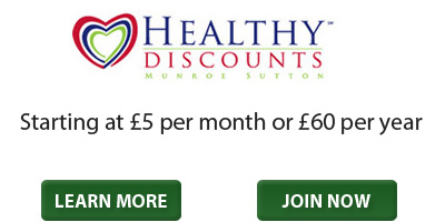 Healthy Discounts - Starting at £5 per month or £60 per year